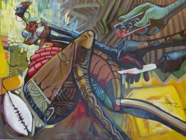 16.06.14-16 Nigerian artists FGM  Olubunmi Temitope Oyasanya 'The Scourge' P1100960 (73)